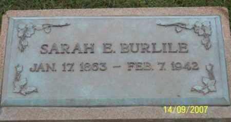 BURLILE, SARAH E. - Ross County, Ohio | SARAH E. BURLILE - Ohio Gravestone Photos