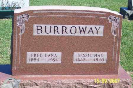 BURROWAY, FRED DANA - Ross County, Ohio | FRED DANA BURROWAY - Ohio Gravestone Photos