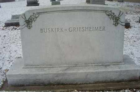 BUSKIRK-GRIESHEIMER, MONUMENT - Ross County, Ohio | MONUMENT BUSKIRK-GRIESHEIMER - Ohio Gravestone Photos