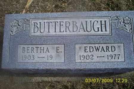 BUTTERBAUGH, EDWARD - Ross County, Ohio | EDWARD BUTTERBAUGH - Ohio Gravestone Photos
