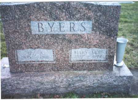 BYERS, MARY JANE - Ross County, Ohio | MARY JANE BYERS - Ohio Gravestone Photos