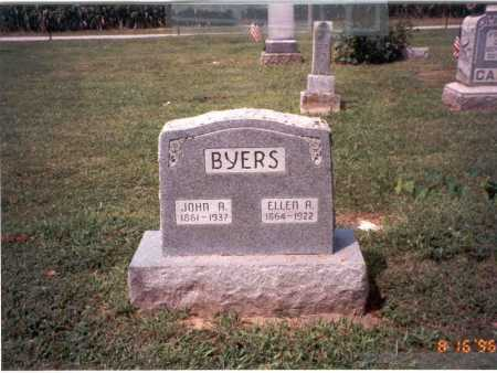 BYERS, ELLEN A. - Ross County, Ohio | ELLEN A. BYERS - Ohio Gravestone Photos