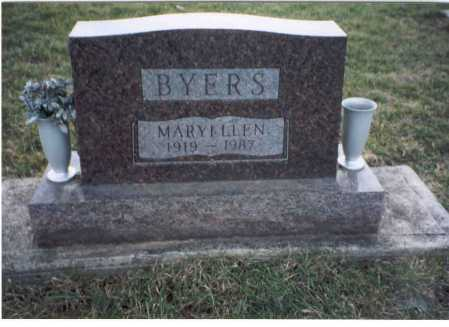 BYERS, MARY ELLEN - Ross County, Ohio | MARY ELLEN BYERS - Ohio Gravestone Photos