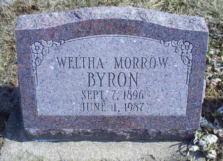 MORROW BYRON, WELTHA - Ross County, Ohio | WELTHA MORROW BYRON - Ohio Gravestone Photos