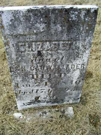 CADWALLADER, ELIZABETH - Ross County, Ohio | ELIZABETH CADWALLADER - Ohio Gravestone Photos