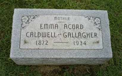 CALDWELL GALLAGHER, EMMA ACORD - Ross County, Ohio | EMMA ACORD CALDWELL GALLAGHER - Ohio Gravestone Photos