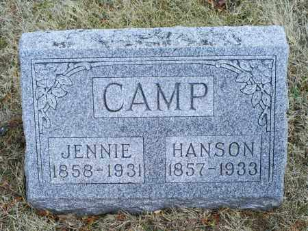 CAMP, JENNIE - Ross County, Ohio | JENNIE CAMP - Ohio Gravestone Photos