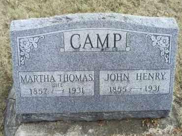 THOMAS CAMP, MARTHA - Ross County, Ohio | MARTHA THOMAS CAMP - Ohio Gravestone Photos