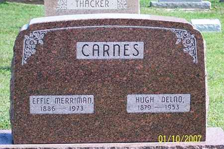 CARNES, HUGH DELNO - Ross County, Ohio | HUGH DELNO CARNES - Ohio Gravestone Photos
