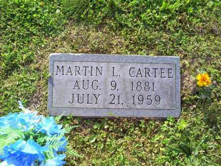 CARTEE, MARTIN L. - Ross County, Ohio | MARTIN L. CARTEE - Ohio Gravestone Photos