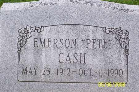 "CASH, EMERSON ""PETE"" - Ross County, Ohio 