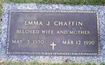 CHAFFIN, EMMA J. - Ross County, Ohio | EMMA J. CHAFFIN - Ohio Gravestone Photos