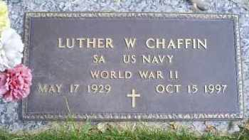 CHAFFIN, LUTHER W. - Ross County, Ohio | LUTHER W. CHAFFIN - Ohio Gravestone Photos