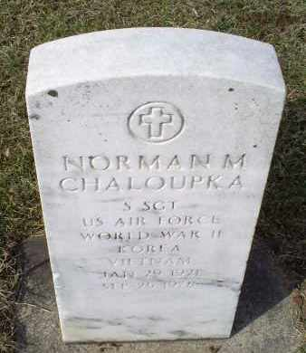 CHALOUPKA, NORMAN M. - Ross County, Ohio | NORMAN M. CHALOUPKA - Ohio Gravestone Photos