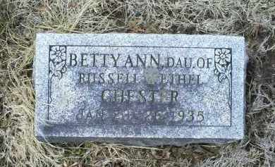 CHESTER, BETTY ANN - Ross County, Ohio | BETTY ANN CHESTER - Ohio Gravestone Photos