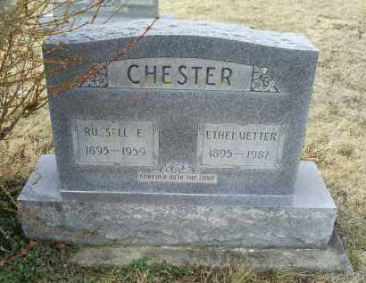 CHESTER, RUSSELL F. - Ross County, Ohio | RUSSELL F. CHESTER - Ohio Gravestone Photos