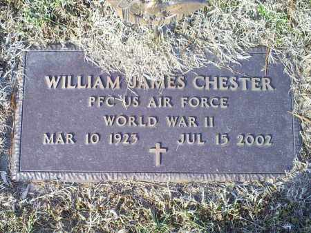 CHESTER, WILLIAM JAMES - Ross County, Ohio | WILLIAM JAMES CHESTER - Ohio Gravestone Photos