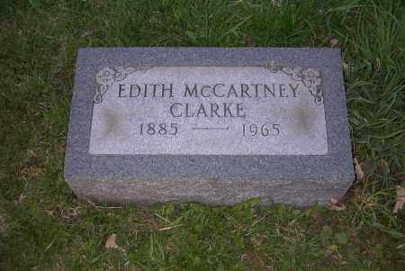 MCCARTNEY CLARKE, EDITH - Ross County, Ohio | EDITH MCCARTNEY CLARKE - Ohio Gravestone Photos