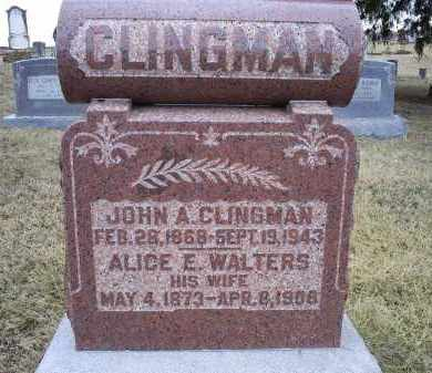 CLINGMAN, ALICE E. - Ross County, Ohio | ALICE E. CLINGMAN - Ohio Gravestone Photos