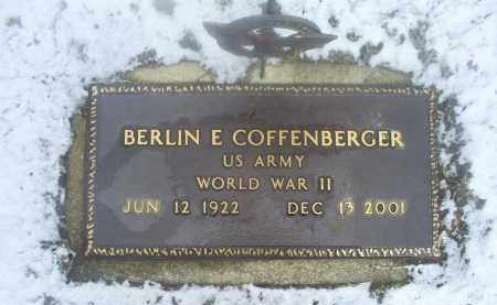 COFFENBERGER, BERLIN E. - Ross County, Ohio | BERLIN E. COFFENBERGER - Ohio Gravestone Photos