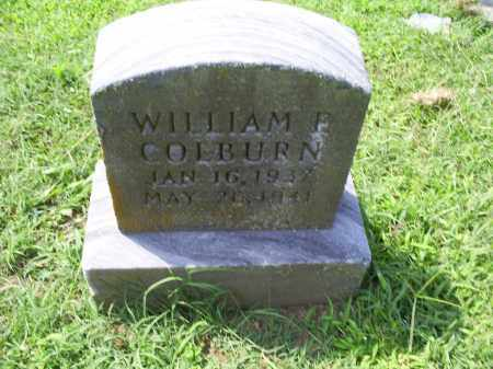 COLBURN, WILLIAM P. - Ross County, Ohio | WILLIAM P. COLBURN - Ohio Gravestone Photos