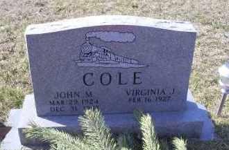 COLE, JOHN M. - Ross County, Ohio | JOHN M. COLE - Ohio Gravestone Photos