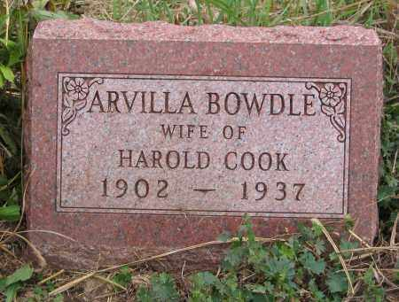 COOK, ARVILLA - Ross County, Ohio | ARVILLA COOK - Ohio Gravestone Photos