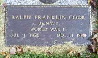 COOK, RALPH FRANKLIN - Ross County, Ohio | RALPH FRANKLIN COOK - Ohio Gravestone Photos