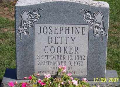 DETTY COOKER, JOSEPHINE - Ross County, Ohio | JOSEPHINE DETTY COOKER - Ohio Gravestone Photos