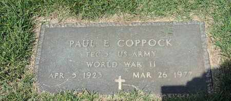 COPPOCK, PAUL E - Ross County, Ohio | PAUL E COPPOCK - Ohio Gravestone Photos