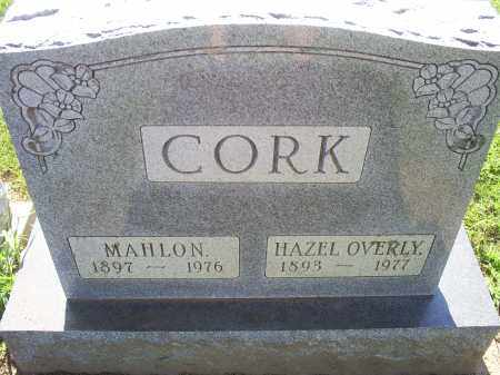 CORK, MAHLON - Ross County, Ohio | MAHLON CORK - Ohio Gravestone Photos
