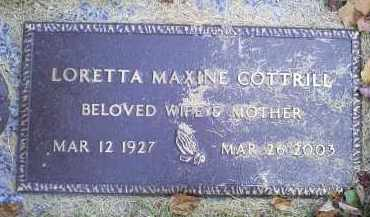 COTTRILL, LORETTA MAXINE - Ross County, Ohio | LORETTA MAXINE COTTRILL - Ohio Gravestone Photos