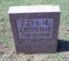 COUSINS, ETTA M. - Ross County, Ohio | ETTA M. COUSINS - Ohio Gravestone Photos