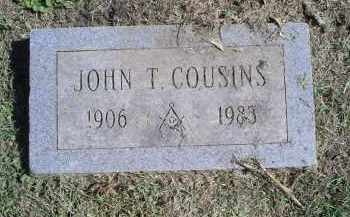 COUSINS, JOHN T. - Ross County, Ohio | JOHN T. COUSINS - Ohio Gravestone Photos