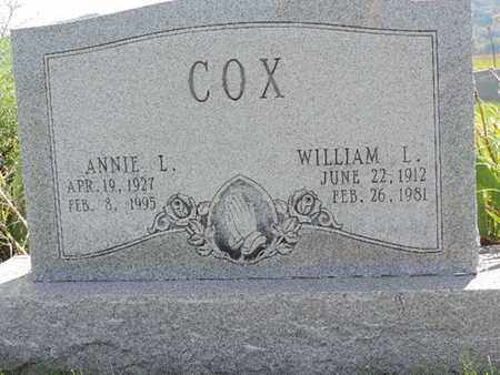 COX, WILLIAM L - Ross County, Ohio | WILLIAM L COX - Ohio Gravestone Photos