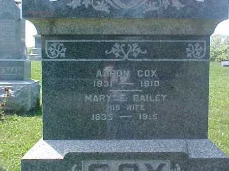 BAILEY COX, MARY E. - Ross County, Ohio | MARY E. BAILEY COX - Ohio Gravestone Photos