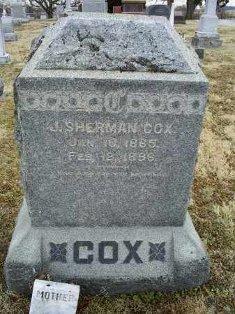 COX, J. SHERMAN - Ross County, Ohio | J. SHERMAN COX - Ohio Gravestone Photos