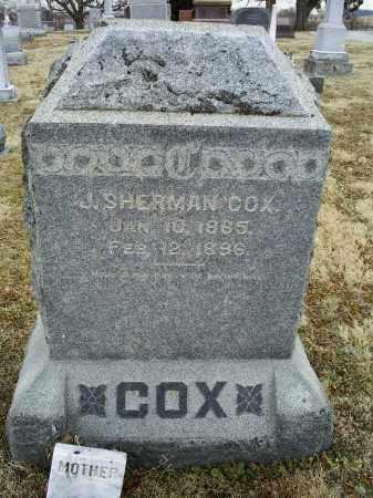 COX, J. SHERMAN - Ross County, Ohio | J. SHERMAN COX - Ohio Gravestone Photos