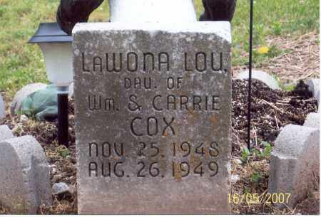COX, LAWONA LOU - Ross County, Ohio | LAWONA LOU COX - Ohio Gravestone Photos