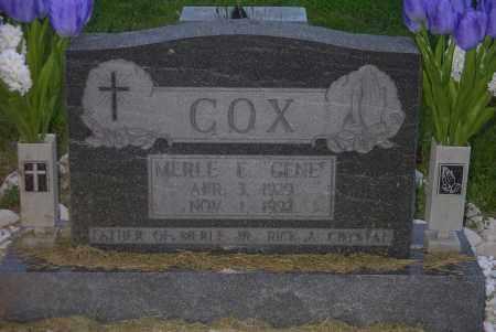 "COX, MERLE E. ""GENE"" - Ross County, Ohio | MERLE E. ""GENE"" COX - Ohio Gravestone Photos"