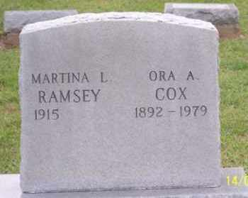 COX, ORA A. - Ross County, Ohio | ORA A. COX - Ohio Gravestone Photos