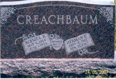 CREACHBAUM, HERMAN E. - Ross County, Ohio | HERMAN E. CREACHBAUM - Ohio Gravestone Photos