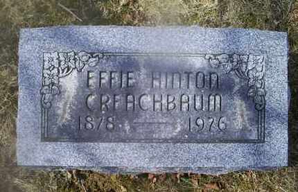 HINTON CREACHBAUM, EFFIE - Ross County, Ohio | EFFIE HINTON CREACHBAUM - Ohio Gravestone Photos