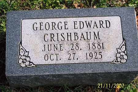 CRISHBAUM, GEORGE EDWARD - Ross County, Ohio | GEORGE EDWARD CRISHBAUM - Ohio Gravestone Photos