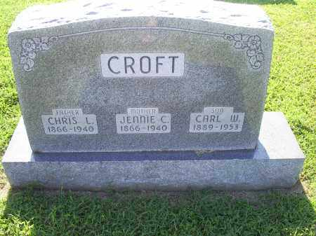 CROFT, JENNIE C. - Ross County, Ohio | JENNIE C. CROFT - Ohio Gravestone Photos