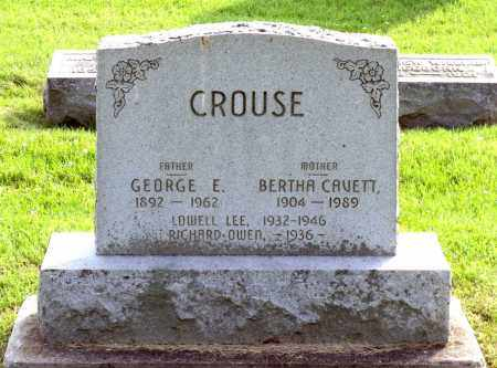 CROUSE, LOWELL LEE - Ross County, Ohio | LOWELL LEE CROUSE - Ohio Gravestone Photos
