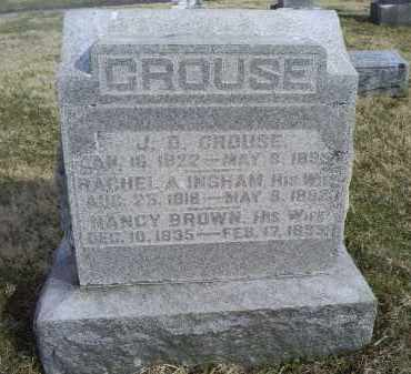 INGHAM CROUSE, RACHEL A. - Ross County, Ohio | RACHEL A. INGHAM CROUSE - Ohio Gravestone Photos