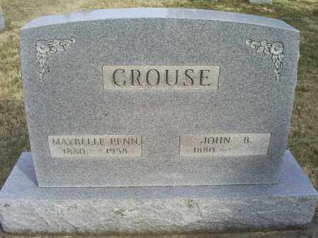 CROUSE, JOHN B. - Ross County, Ohio | JOHN B. CROUSE - Ohio Gravestone Photos
