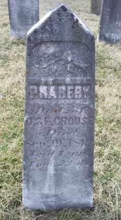 CROUSE, PHAREBY - Ross County, Ohio | PHAREBY CROUSE - Ohio Gravestone Photos