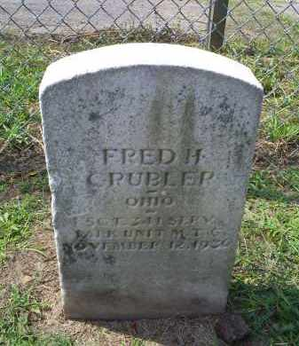 CRUBLER, FRED - Ross County, Ohio | FRED CRUBLER - Ohio Gravestone Photos